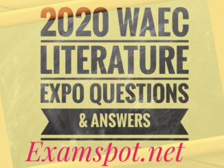 2020 Waec English Language Complete Questions and Answers Expo/Runz 1