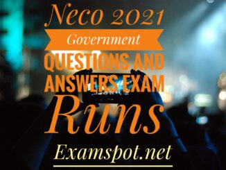 neco government questions and answers exam runz